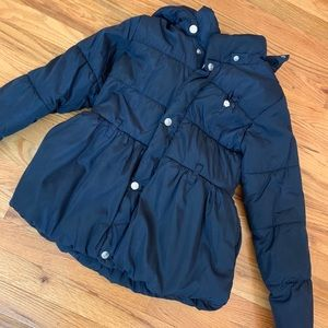Le Chic Navy Blue Girls Coat size 140